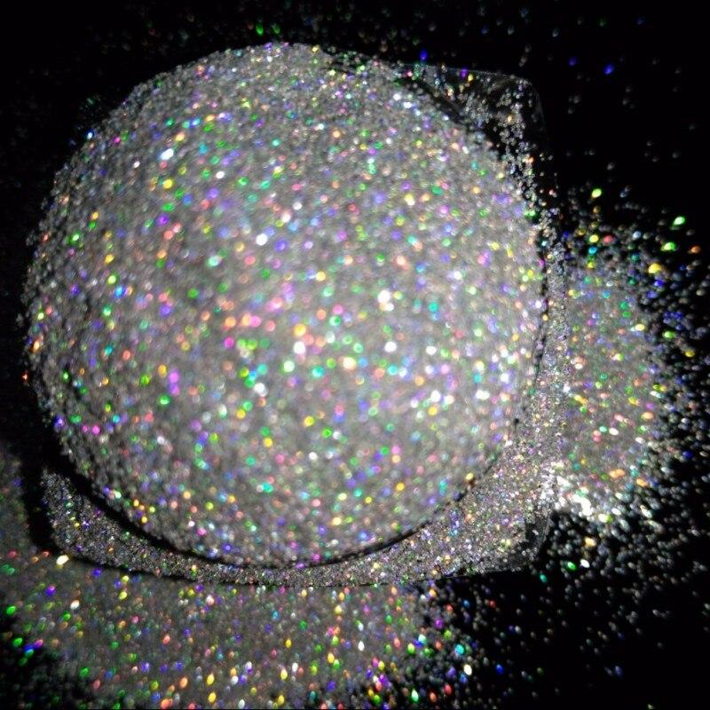 1/256 Holographic Silver Color Nail Glitter Powder Laser Ultra-fine Art Decoration 5g/Box, dropshipping