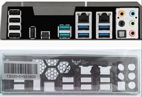 New I/O shield back plate of motherboard for SABERTOOTH X99 just shield backplate Free shipping