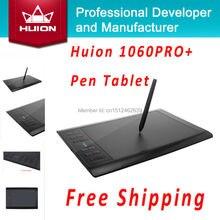 Huion 1060 PRO + Цифровой Таблетки Подпись Таблетки Анимация Графический Планшет Доски Графический Рисунок Таблетки С 4 Г SD Карты черный