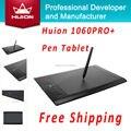 Huion 1060 PRO + Firma Tabletas Tabletas Digitales Animación Dibujo Tableros de Dibujo Gráfico de la Tableta Tabletas Con 4G Tarjeta SD negro