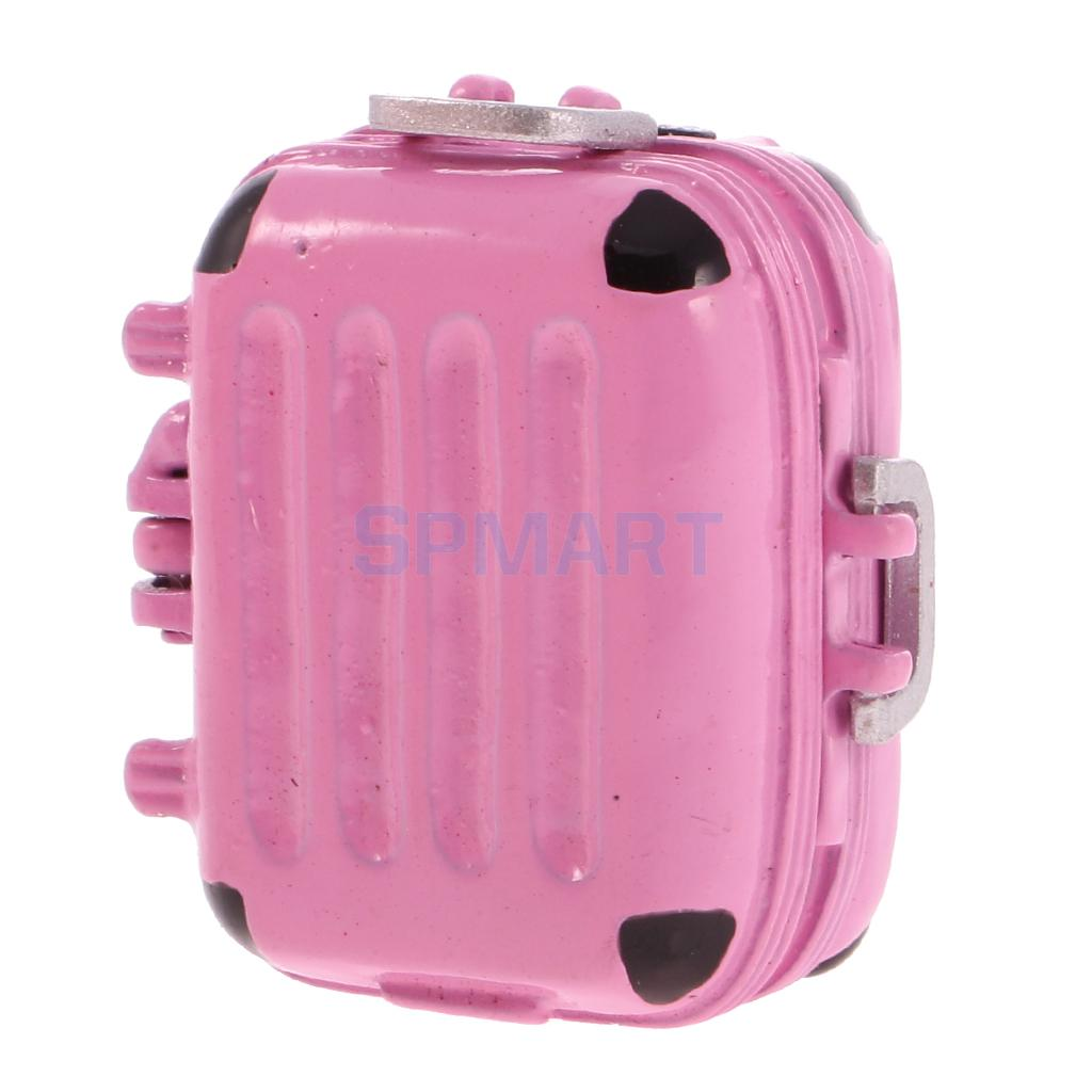 Iron Travel Luggage Box Suitcase for 1:12 Dolls House Miniature ACCS Pink