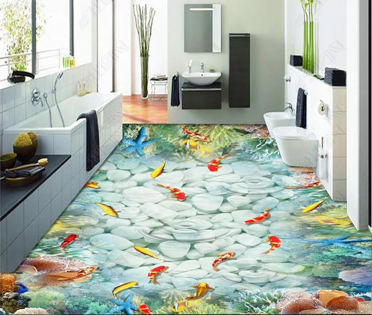 Custom 2019 3D Flooring Wallpaper 3D pvc Sea World Dolphin Wall Painting Murales Floor Wallpaper For Kids RoomCustom 2019 3D Flooring Wallpaper 3D pvc Sea World Dolphin Wall Painting Murales Floor Wallpaper For Kids Room