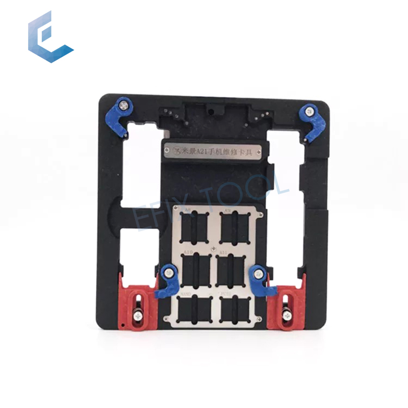 Universal PCB holder fixture for iPhone 8P/8G/7P/7G/6SP/6S/6P/6G/5S A10 A9 A8 A7 CPU Nand Chip Repair Tool A21 newest circuit board pcb holder jig fixture work station for iphone 8 7 6sp 5s logic board a8 a9 a10 chip repair tool