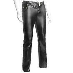 AIIOU Для мужчин s Черный искусственного кожаные штаны длинные брюки пикантные узкие прямые Готический колготки Для мужчин s леггинсы Slim Fit Tight