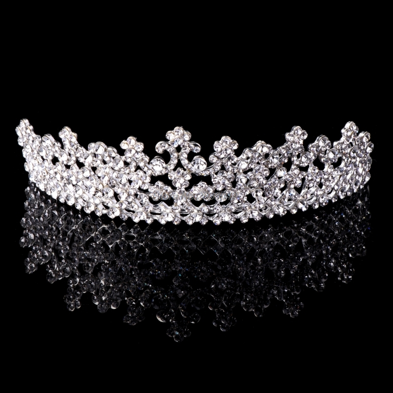 Wedding Bridal Rhinestone Hair Headband Crown Tiara Prom Pageant Engagement Gift -W128