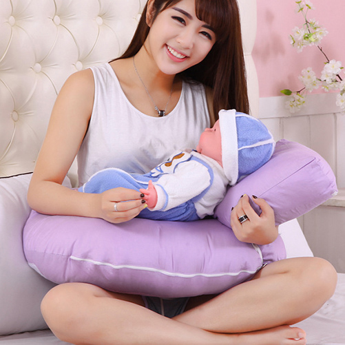 New Arrival U Shape Baby Pillow Comfortable Baby Support Pillow Head Protector Nursing Pillow Bright Color Cushion Sleeping Pad
