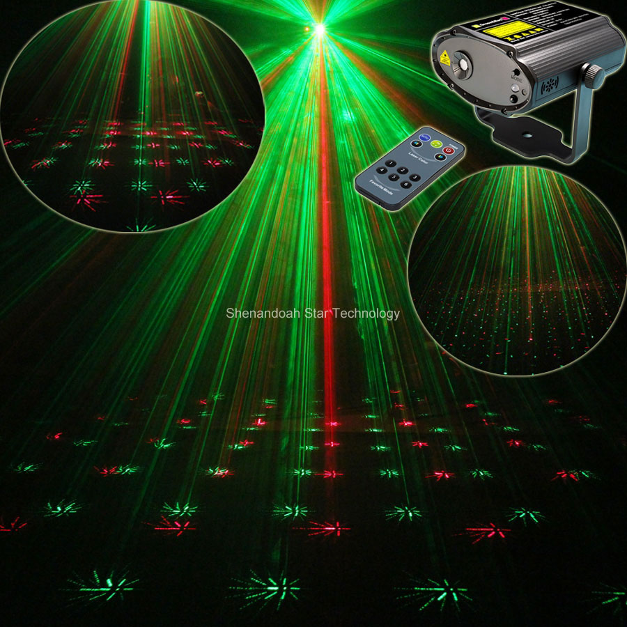 Mini Laser Projector Remote Full stars pattern Light DJ DJ Environment dance Disco bar Party Xmas effect Stage Lights Show B34 new mini red blue line pattern gobo remote laser projector dj club light dance bar party xmas disco effect stage lights show b55