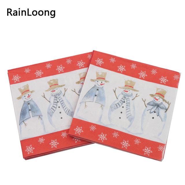 [RainLoong] Christmas Snowman Paper Napkins Event u0026 Party Tissue Napkins Decoration Serviettes DIY 25  sc 1 st  AliExpress.com & RainLoong] Christmas Snowman Paper Napkins Event u0026 Party Tissue ...
