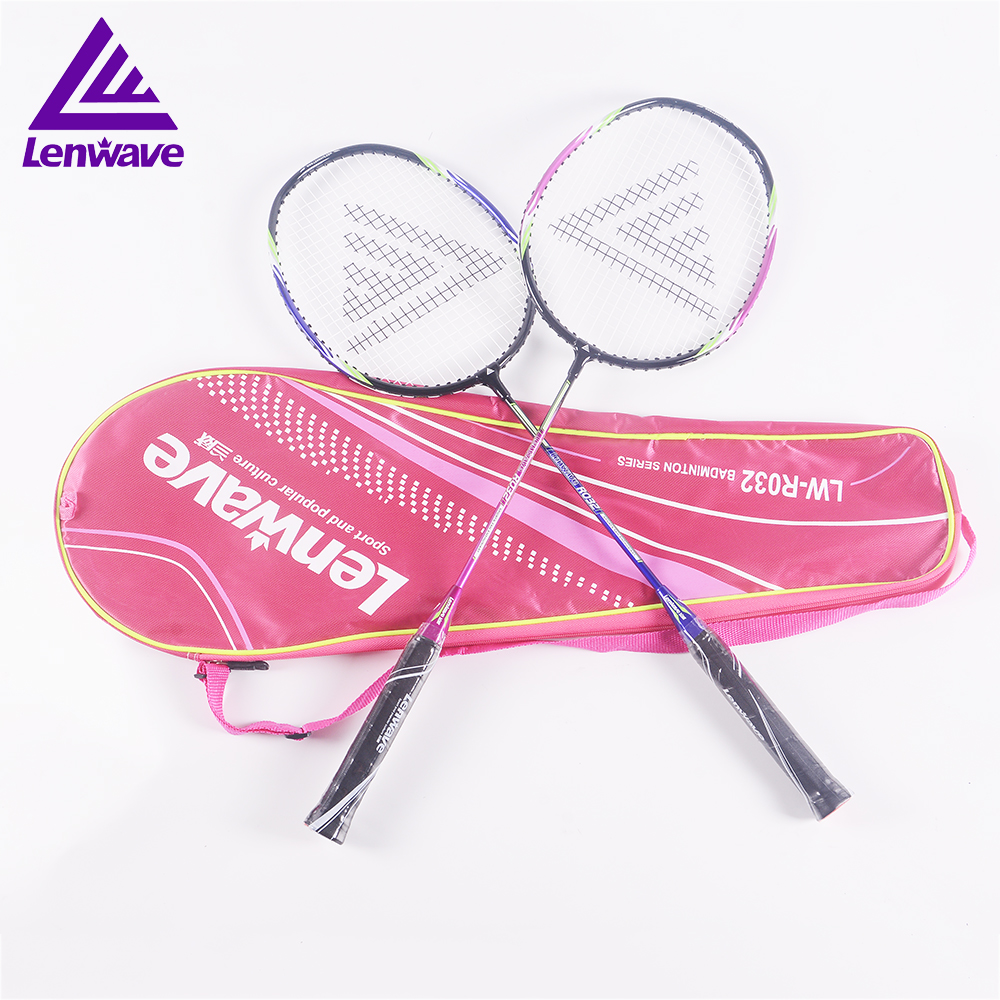 2018 Lenwave brand 1 pair sport badminton racquet and 5 pcs badminton