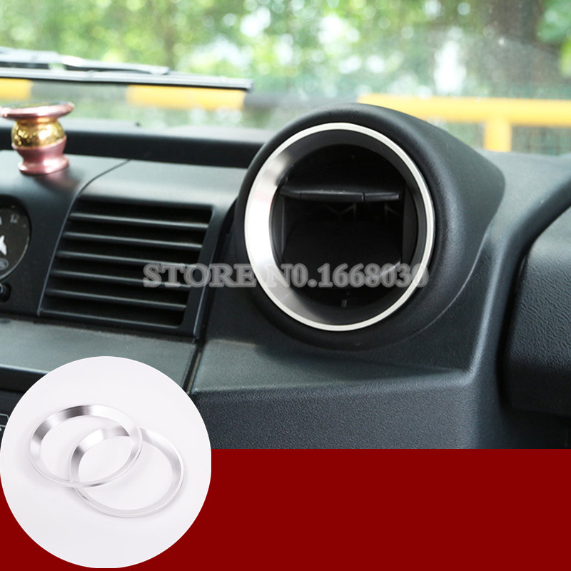 Silver Center Air Vent Outlet Cover For Land Rover Defender 90 110 2009-2015Silver Center Air Vent Outlet Cover For Land Rover Defender 90 110 2009-2015