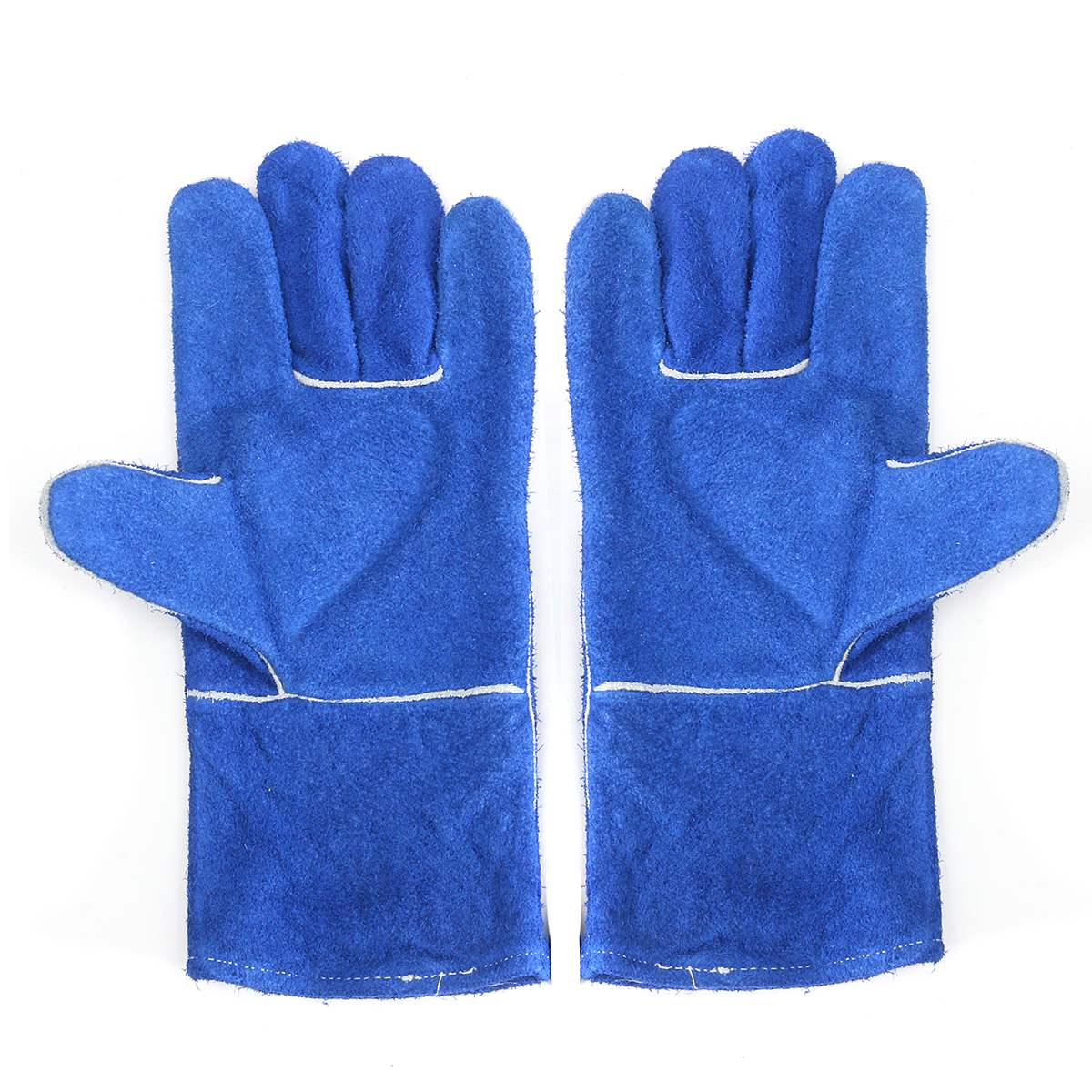 Blue Woodburner Gloves Long Lined Welders Gauntlets Log Fire High Temp Stove XL  Workplace Safety Gloves manitobah рукавицы fur gauntlets