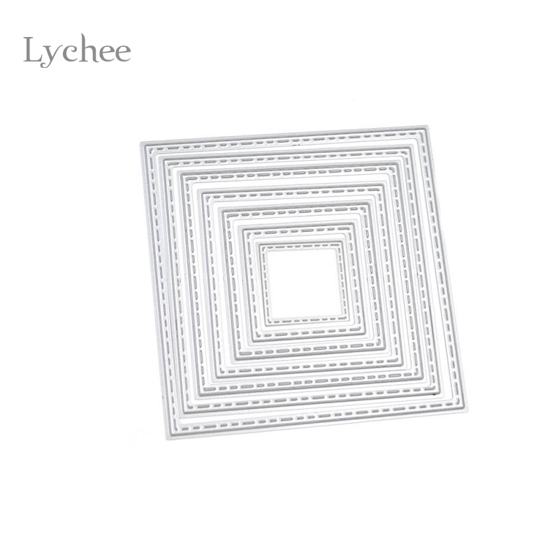 1 set diy square cutting dies stencils embossing card