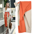 2017 Early Spring New Women's Fashion Skirt Street Beat Irregular Bag Hit Color High Waist Skirt
