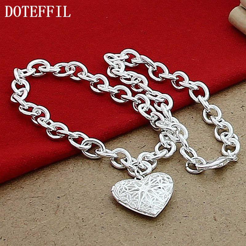 Фоторамка модные ювелирные изделия 925 сердечко серебряного цвета подвески ожерелья для женщин оптом