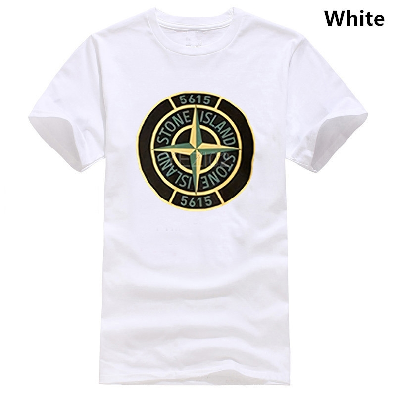 Stone Compass Chest Large Print Short Sleeve Island Tee Men Women Couples   T     Shirt