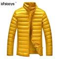 2016 Luxury Men Genuine Sheepskin Leather Down Parkas Printed Coats Stand Collar Winter Mens Thicken Warm Coats Jacket