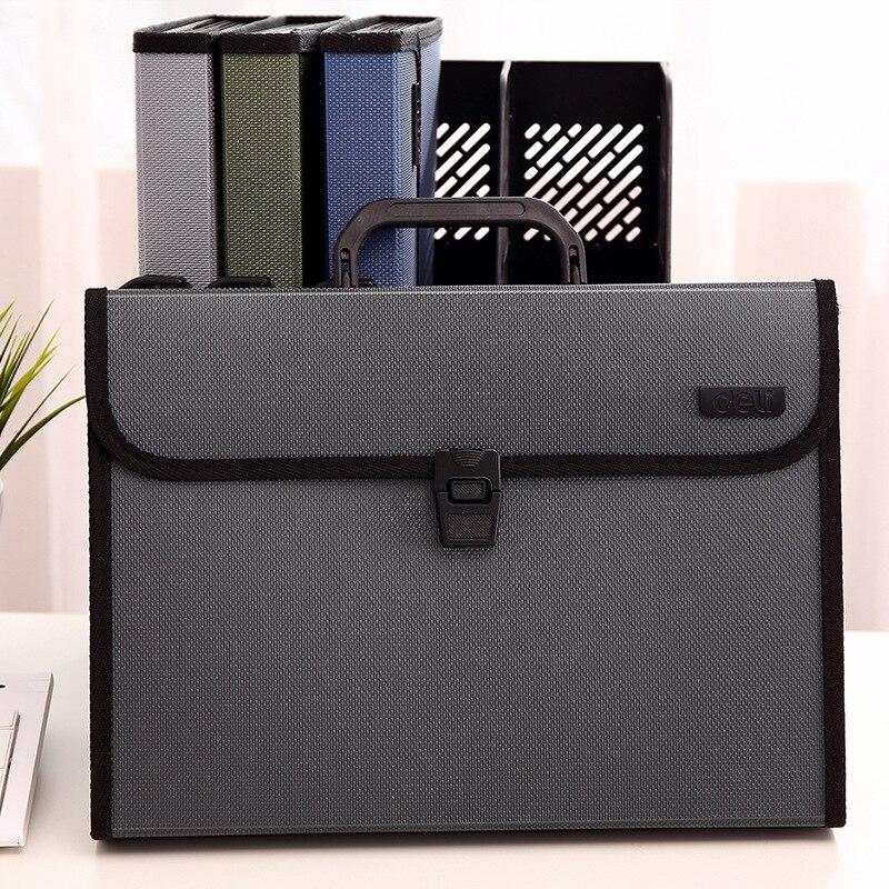 File Bag Organ Bag A4 Portable Folder 12 Multi-layer Paper Ticket School Office Storage Package