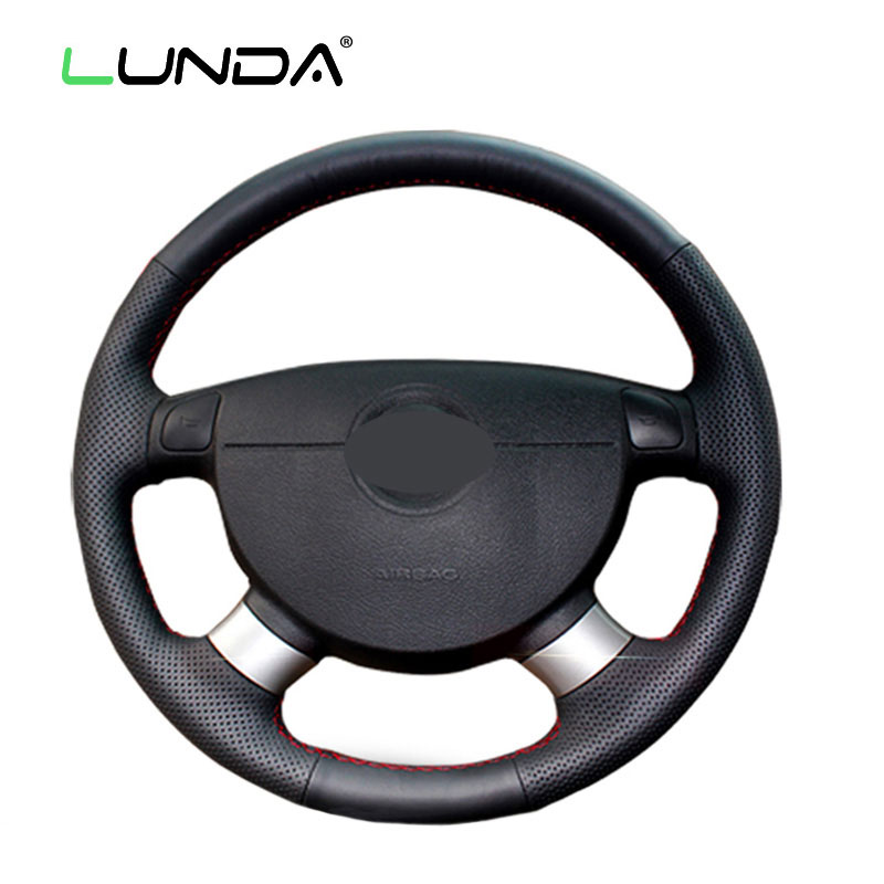 LUNDA Black Steering Wheel Cover for Chevrolet Lova Aveo Buick Excelle Daewoo Gentra 2013-2015 Chevrolet Lacetti 2006-2012