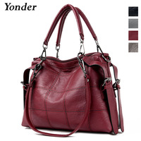 Yonder luxury designer china hand bags ladies genuine leather handbags women's 2019 fashion tote messenger shoulder bag female