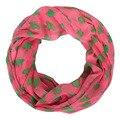 Colorido moda de nova impressão apple voile chiffon anel lenço de seda na moda venda quente invern quente cobertor primavera cachecol mulheres xale