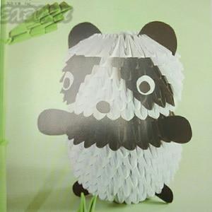 Image 4 - סיני מהדורה יפני נייר מלאכת דפוס ספר 3D נייר מתקפל בעלי החיים בובת פרח