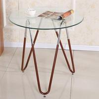 Steel Glass Round Table Small Table