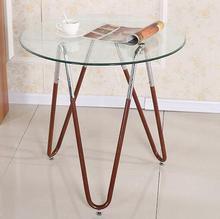 Сталь стекло круглого стола. столик.