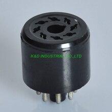 лучшая цена 2pcs 8Pin Noval Vacuum Bakelite Tube Saver Socket Testing 6L6 6V6 6SN7 EL34 KT88 6550 Tube Amplifier Parts