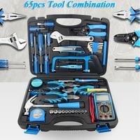 65pcs Household Tool Set Manual Hardware Tools Electrician Repair Kit With Electric Soldering Iron,Multimeter ,Socket