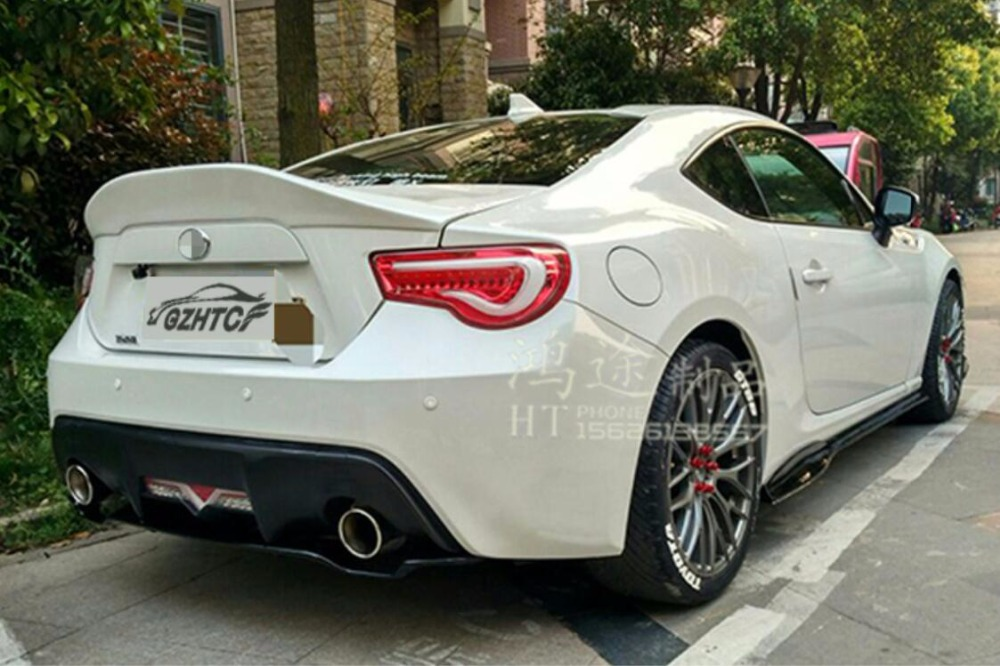 JIOYNG Unpainted ABS Car Rear Wing Trunk Lip Spoilers For Subaru BRZ For TOYOTA GT86 2012 2013 2014 2015 car window curtains legal