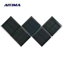 Aiyima 5PC Solar Panels 1.5V 250MA Solar Cell Polycrystalline Silicon Solar Drip Board DIY 52*52MM