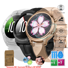 10Pcs/Lot(5Films+5Wipes)For Sport Smartwatch TicWatch S2/E2/C2 S/E Screen Protector Cover Tempered Glass Protective Film Guard
