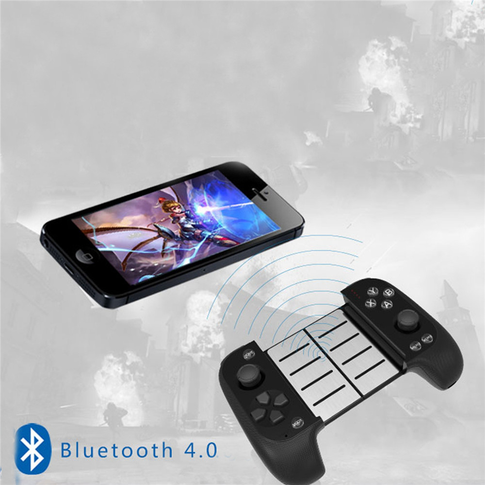 Manette télescopique sans fil de contrôleur de manette de manette de Bluetooth pour l'iphone IOS Android pour des Gamepads mobiles de Samsung/Xiaomi/Huawei PUBG - 4