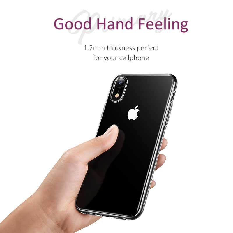 USAMS TPU case Voor iPhone X XS Max XR transparante Telefoon Case Voor iPhone 7 8 6 5 5s SE Ultra Dunne Back Phone Cover Coque