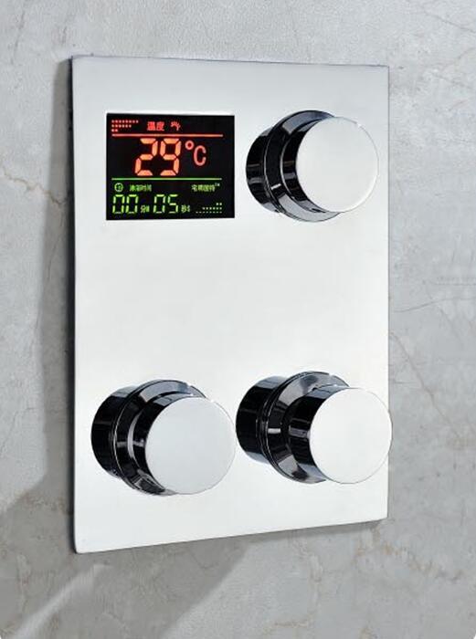 Robinet de douche thermostatique, Température D'affichage. Numérique encastrable thermostatique douche mitigeur robinet mitigeur avec écran lcd
