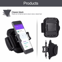 New Running Sports Armband Retractable Mobile Phone Holder Clip Stand Sports Belt GYM Arm Band Strap