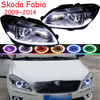 car Head light For Fabia Headlights 2009 2010 2011 2012 2013 2014year Fabia headlight DRL HI LO HID xenon