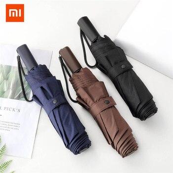 Xiaomi LSD Three Folding Sun Rain Umbrella Women Men Large Strong Frame Windproof Anti-UV 8Ribs Gentle Mijia Umbrellas 3 colors Туалет
