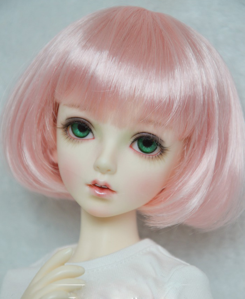 1/3 1/4 1/6 Bjd Wig Super Doll Wig Short Pink Lovely Mohair Wig For Bjd Doll Hair Accessories High Quality