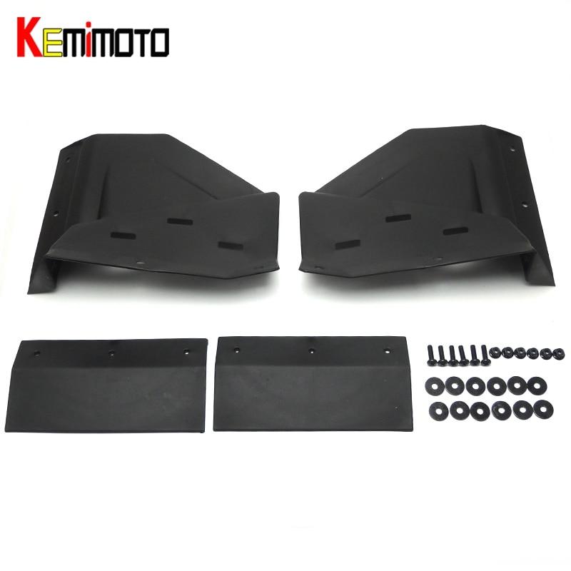 KEMIMOTO Black Front Mud Flaps for polaris RZR XP & 4 1000 2014 2015 2016 2017