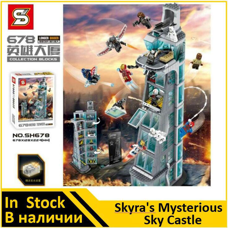 SH678 Avenger Attack on Avengers Tower 7th floor Building Blocks Marvel Super Heroes Figures Compatible 76038 building blocks marvel super heroes figures avenger attack on avengers tower educational toys compatible with legoinglys