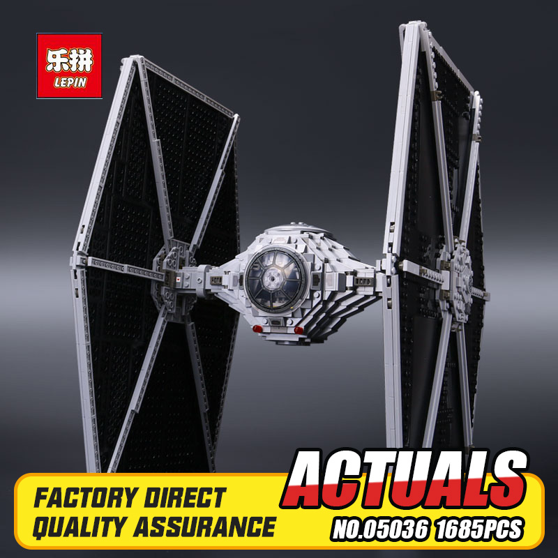 NEW 1685pcs Lepin 05036 Star War Series Tie Fighter Building Educational Blocks Bricks Toys Compatible with 75095 Children Gift lepin 02012 city deepwater exploration vessel 60095 building blocks policeman toys children compatible with lego gift kid sets