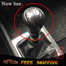 Newbee 5 Speed Auto Styling Manual Pookknop Shifter Hendel Hoofd Handbal Case Voor Kia Forte Soul Hyundai Elantra i30(China)