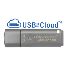 Tecnología Kingston DataTraveler Locker + G3 8 GB Memoria USB (USB 3,0 DE 8 GB USB tipo-A 80 MB/S) Tapa DE Color Plata(China)