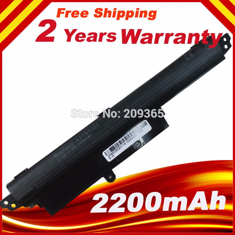 100% New 33wh 11.25v Laptop battery For ASUS VIVOBOOK X200CA F200CA A31N1302 A31LM9H battery