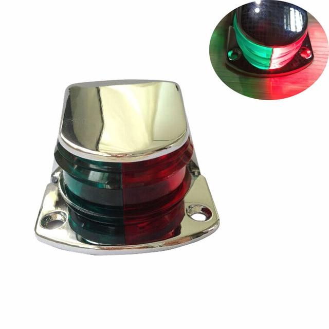 Lámpara de señal de navegación de barco marino 12V rojo verde bi color 5W