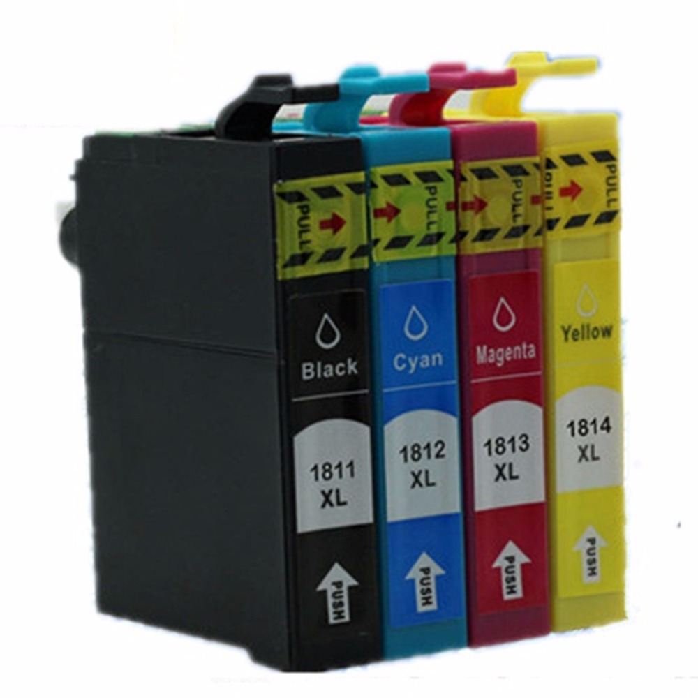 T1801 T1811 18 XL E-1811 E-18101 T1804 T1814 Ink Cartridges For Epson Expression Home XP- 30 102 202 205 302 305 Inkjet Printer