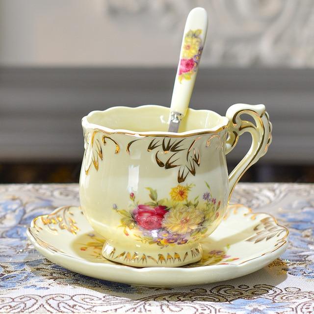 European countryside style rose colour ceramic glaze pure hand paint ...