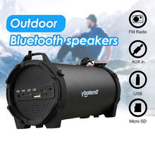 بلوتوث 4.0 مكبر الصوت اللاسلكي ل 6h الموسيقى يدوي 8 واط كبير الطاقة مكبر الصوت المدمج في هيئة التصنيع العسكري 3.5 مللي متر الصوت بطارية قابلة للشحن