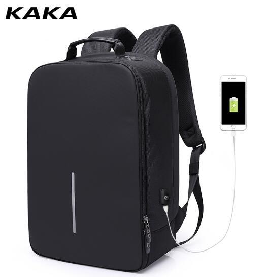 KAKA Men Backpack USB Charging Travel Backpack Bag Oxford 15.6 Inch Laptop Backpack Multifunction Waterproof Notebook Rucksack kaka men large capacity oxford laptop bag men s backpacks unisex women backpack new arrival backpack bag oxford men bag x475